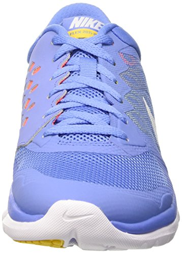 Nike Flex Run 2015, Running Femme Multicolor (CHLK BL / WHITE HYPR ORNG VRSTY)