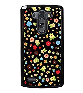 Fuson Premium 2D Back Case Cover Foral pattern With Multi Background Degined For LG G3::LG G3 D855