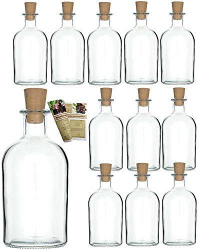 (12 leere Glasflaschen