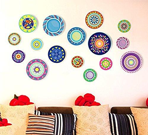 TERMV 3D Stereo Foto-Wand-Aufkleber-Hintergrund-Wand-Dekoration-Raum Schlafzimmer Tapete Art-Deco-Platte 98 * 52cm (Art-deco Wand-platten)