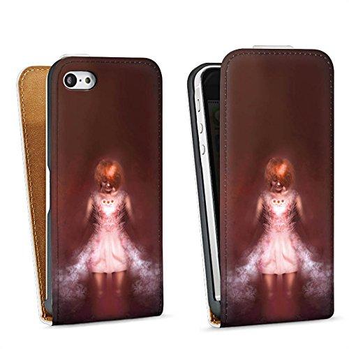 Apple iPhone 4 Housse Étui Silicone Coque Protection Fille dans le noir Halloween Sac Downflip blanc