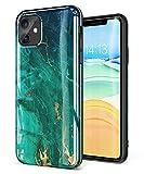 GVIEWIN Marmor für iPhone 11 Hülle Shlank Glänzend Weich TPU Gummigel Handyhülle Schutzhülle...