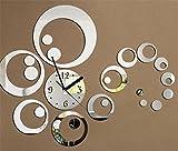 Creativo acrilico semplice specchio TV sfondo orologio da parete 1 batteria AA , 002