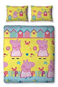 peppa pig bed housse de couette literie double avec taie. Black Bedroom Furniture Sets. Home Design Ideas
