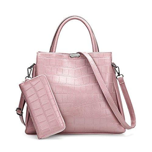 Signore Borse Moda In Europa E America Borsa Diagonale Tracolla In Pelle Portafoglio Pink