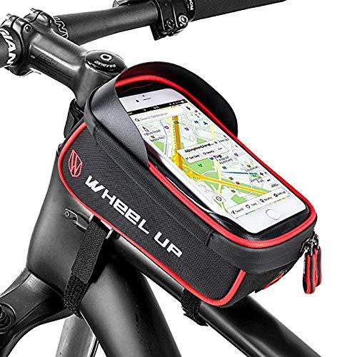 Furado Wasserdichter Fahrradtasche Rahmentaschen Geeignet für Smartphones Innerhalb mit Kopfhörerloch,TPU Touchschirm von 6 Zoll
