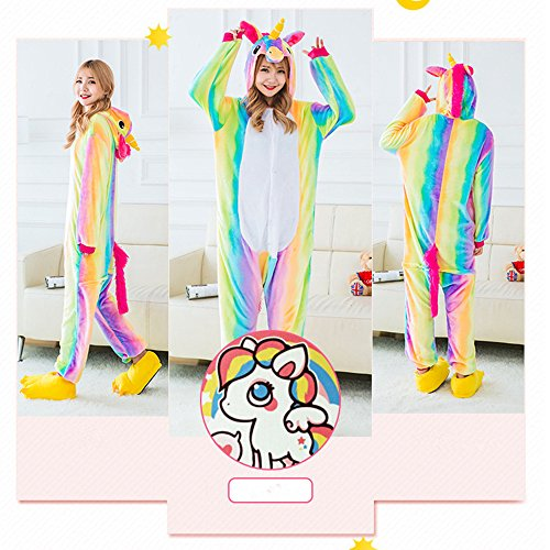 - 51 2BXidNeAIL - Missley Unicorn Cosplay Unisex Flannel Animal Novelty Pyjamas Nightwear Costumes Halloween