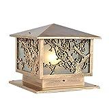 ACZZ Cortile Lampada da parete a muro Colonna Personalità Art Antirust Antivento metallo Post Light E27 1-Light Pilastro Illuminazione per balcone Terrazza Patio Piscina