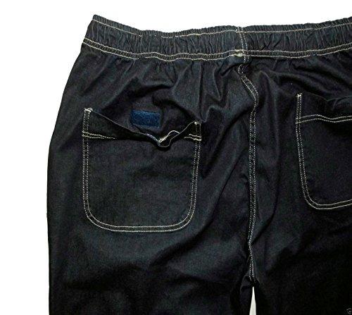 Herren Schlupfjeans – Joggingjeans in dunkelblau in großen Größen von 3XL – 12XL Blau