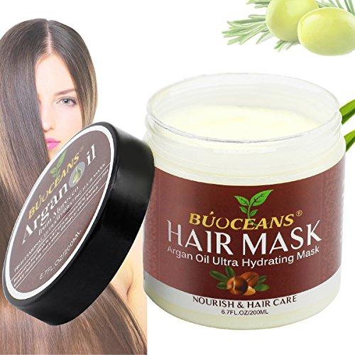 Professional Arganöl Hair Mask, Arganöl Haarkur Conditioner Maske - mit Aloe Vera & Keratin - 200ml - Sulfat Frei, Haarkur Maske für sehr Trockenes und beanspruchtes Haar, Haben Feuchtigkeitsspendend, Nachfüll wasser und Nährend, Erhöhen haar Flexibilität