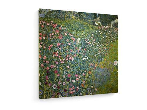 Gustav Klimt - Italienische Garten Landschaft - 30x30 cm - Textil-Leinwandbild auf Keilrahmen - Wand-Bild - Kunst, Gemälde, Foto, Bild auf Leinwand - Alte Meister/Museum -