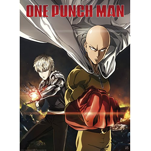 "Abystyle Abystyleabydco408 ""Abysse One Punch Man Saitama et Genos (Grèce antique)"" Poster, 52 x 38 cm"