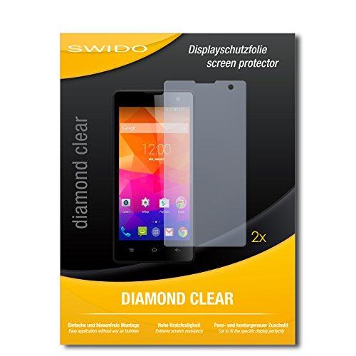 SWIDO 2 x Bildschirmschutzfolie Gigabyte GSmart Classic Lite Schutzfolie Folie DiamondClear unsichtbar