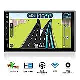 Autoradio Android 9.0 Doppia Din Car Stereo Radio Universal GPS Navigation | Gratuita Camera | Supporto Mirror Link 4G WiFi DAB+ Bluetooth volante Google USB SD up to 256GB FM/AM |7 pollici 32G-ROM |