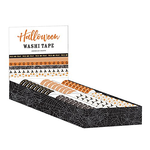 American Crafts Dollar 48 Rollen Halloween Washi Tape Box (Store Dollar Halloween)