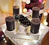 Adventskranz / Minipalette incl Deko und Trend-Kerzen