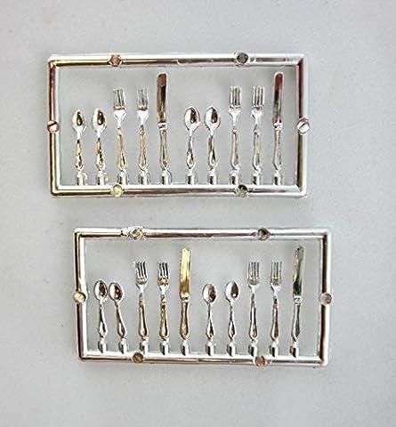 Dolls House Miniature Dining Tableware Cutlery Set 171