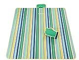 Große Picknick-Decke Wasserdichte Outdoor Camping Picnic Teppich Matte Faltbare und tragbare Picknick-Matte 200 * 145CM (Grün) -