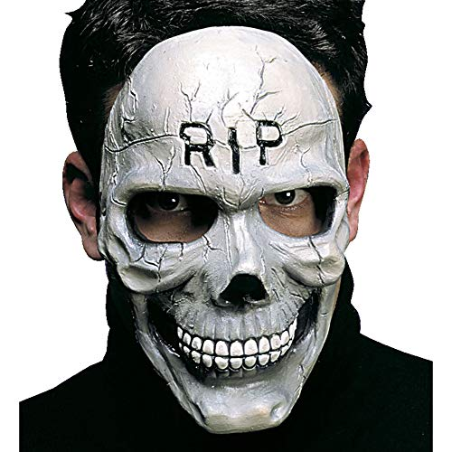Widmann 8292T Halbmaske Totenkopf, Skelett, One Size (Gesicht Halloween-make-up Das Skelett Halb)