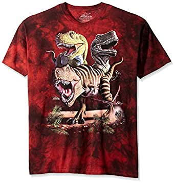 The Mountain Rex Collage Adult XL Dinosaurs Unisex T Shirt