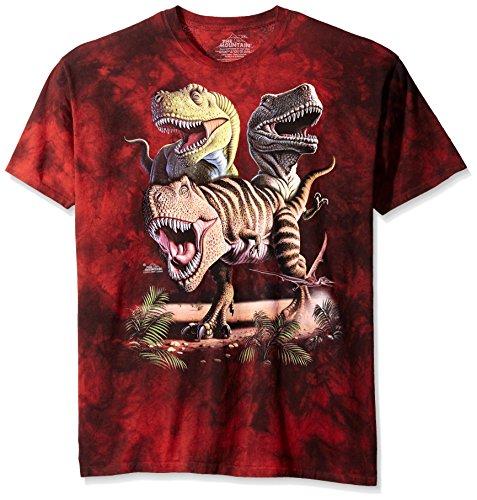 Rex / Dinosaurier Collage - Kinder T-Shirts von The Mountain Rot