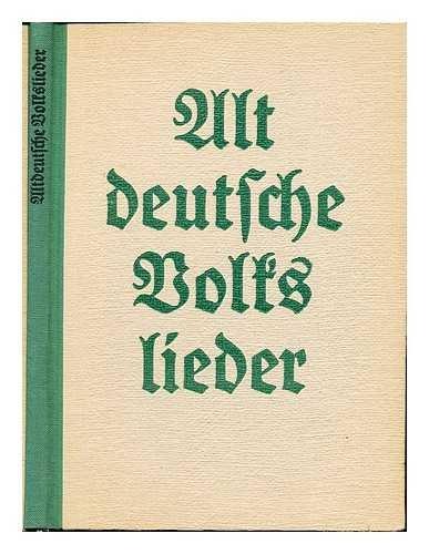 Altdeutsche Volkslieder fur Blaserchore