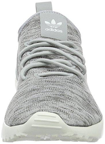adidas Damen ZX Flux ADV Virtue Sock Laufschuhe, Grau Grau (Clear Onix/Clear Onix/Core White)