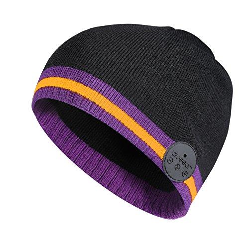 Bluetooth Beanie Mütze BLUEEAR Waschbare Freizeit Bluetooth Baggy Hats Kopfhörer mit akustischem Stereolautsprecher und Freisprecher-Telefonbeantwortung - Mp3 Snowboard
