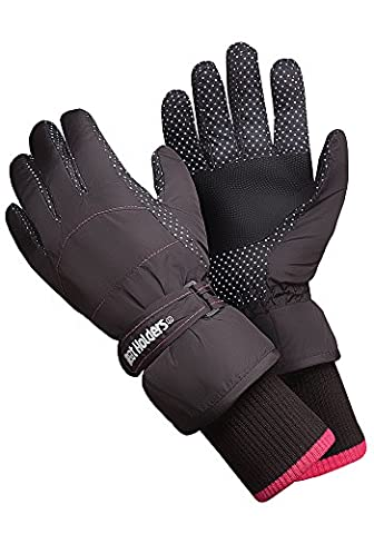 Heat Holders - Ladies Extra Warm Padded Waterproof Insulated Thermal Winter Ski Gloves in 2 Sizes (S/M)