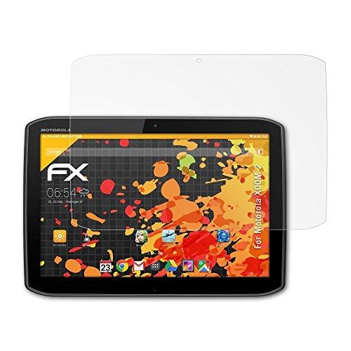 atFolix Panzerfolie kompatibel mit Motorola XOOM 2 / Droid XYBOARD 10.1 Schutzfolie, entspiegelnde und stoßdämpfende FX Folie (2X) (Motorola Xoom)