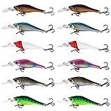 Croch 12pcs Nouveaux leurres de Pêche défini appât carnassiers brochet accessoires de pêche