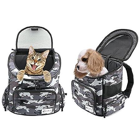 Kingsaid Haustier Rucksäcke haustiertragetasche Atmungsaktive Outdoor Faltbarer für Hunde und Katzen
