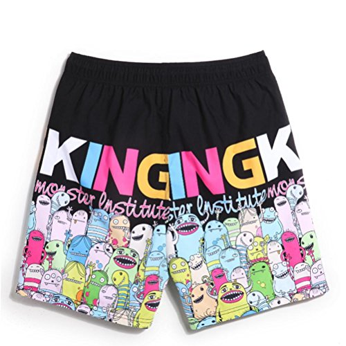 XIXI Einfache Strandhose Männliche Lose Koreanische Casual Shorts , (Männliche Tracht Koreanische)