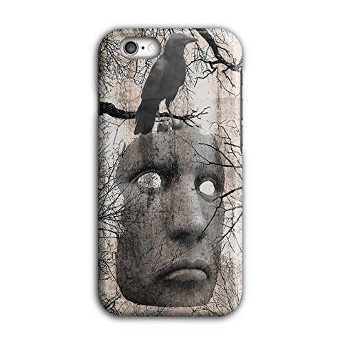 Maske Krähe Gruselig Horror Rabe Gesicht iPhone 6 / 6S Hülle   Wellcoda (Clown Gesichter Gruselig)