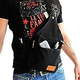 Dampfer Rucksack (Slingbag) mit vielen Taschen, Farbe:schwarz