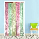 Yaheetech Türvorhang gardinen vorhänge Streifenvorhang waschbar deko für Garten Outdoor Bunte aus Polyethylen 90 x 210 cm