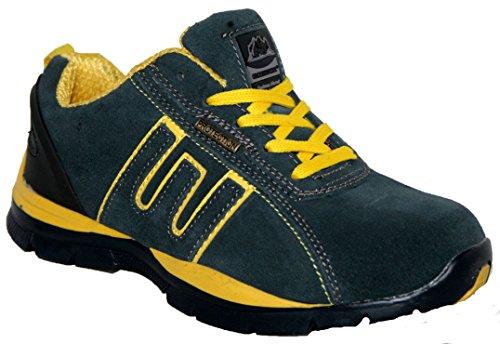 Groundwork Gr86, Unisex Erwachsene Sportliche Sicherheitsschuhe Blau / Gelb