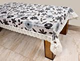 #3: STITCHNEST - Table Cover Anti Skid, PVC, Rectangle 4 Seater, 40 X 60 Inches, Black and White Table Cover, Pack of 1
