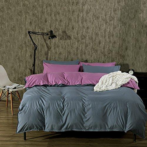 Bettwäsche Solid Farbe Ultra-weich Matte Studenten Schlafsäle Mitarbeiter Schlafzimmer Bettwäsche Dreiteilig,B2