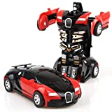 Juzie Voiture de Collision Robot de Dessin animé pour Enfants 2 en 1, Voiture de déformation par Collision