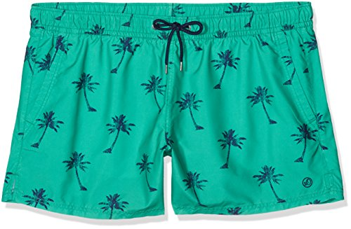 s.Oliver Herren Badehose Mehrfarbig (Palm Tree AOP Turquoise 73A1)