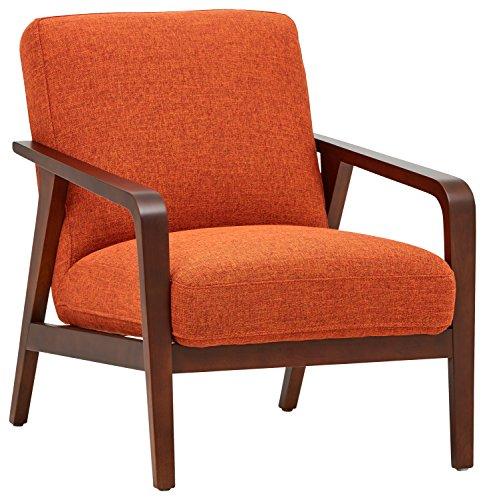 Rivet Huxley - Silla de diseño estilo Mid-century (naranja tostado)