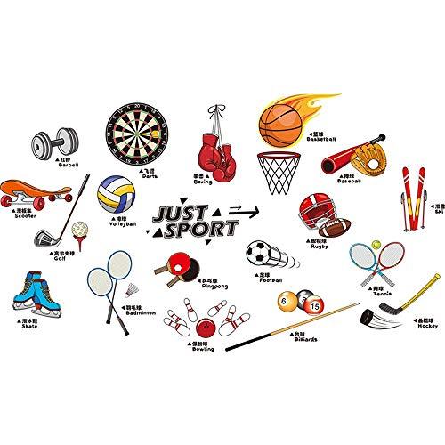 XCGZ wandtatoo Fußball Basketball Badminton Sport Tool Wandaufkleber Aufkleberdekorative