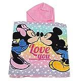 Disney Poncho Peignoir Serviette de Plage Minnie et Mickey