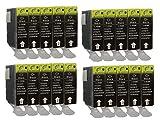20 Druckerpatronen mit Chip für Canon Black PGI-5 BK Pixma IP3300 IP3500 IP4200 IP4200IP4300 IP4500 IP5200 IP5200 IP5300 IP6600 IP6700D MP500 MP510 MP520 MP530 MP610 MP800 MP810 MP830 MP970 IX4000 IX5000 MX700 MX850 Pro9000 Schwarz