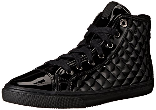 Geox D New Club D, Sneaker con Cerniera, Donna, Black, 40 EU