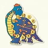 Dida - Kinderwanduhr - Holz - Dekoration: Dinosaurier