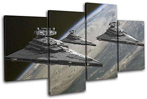 Bold Bloc Design - Star Wars Star Destroyer Movie Greats 200x113cm MULTI Leinwand Kunstdruck Box gerahmte Bild Wand hangen - handgefertigt In Grossbritannien - gerahmt und bereit zum Aufhangen - Canvas Art Print - Print Art Canvas