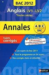 ANNALES BAC 2012 ANGLAIS TTES