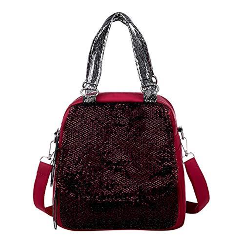 Ledertasche, Schultertasche, Geschenk, Handgefertigte Tasche,Fashion Lady Anti-Theft Rucksack Multifunktions Schulter Diagonale Tasche Rucksack ()